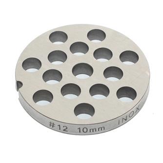 Grille inox 10 mm pour hachoir n°12
