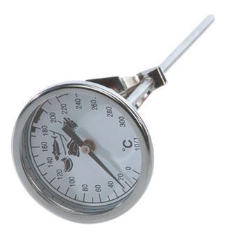 Thermomètre de friture à sonde et cadran