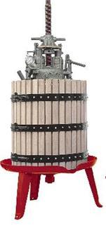 Pressoir hydraulique vis centrale 447 litres