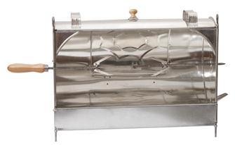 Rôtissoire de cheminée manuelle en fer blanc 52 cm