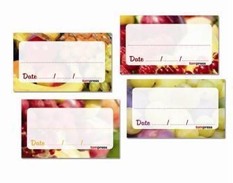 Etiquettes pour conserves de fruits et confitures par 84