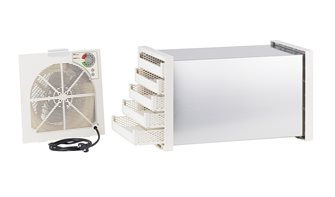 Déshydrateur séchoir à thermostat tunnel inox 5 plateaux plastique