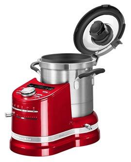 Robot culinaire cuiseur tout-en-un rouge