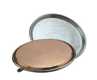 Plat à socca en cuivre 40 cm