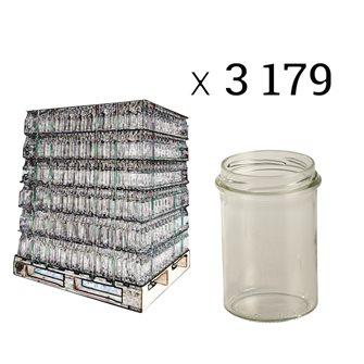 Pot verre à bague protégée 228 ml par palette de 3179