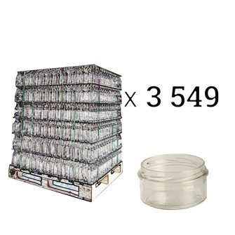 Pot à pâté en verre twist off 130 g. par palette de 3549