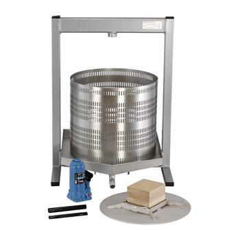Pressoir à fruits hydraulique 50 litres en inox