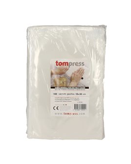 Sacs sous vide alimentaires gaufrés Tom Press 15x30 cm par 100