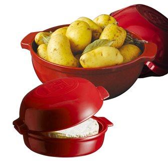 Kit diable à pomme de terre et four à fromage Fromage Baker rouge Grand Cru Emile Henry