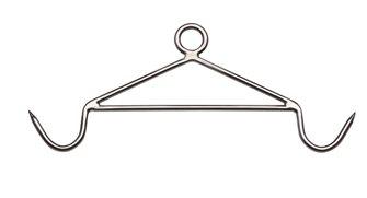 Crochet de dépeçage porte-carcasses pro 61cm en inox 12 mm