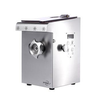 Hachoir à viande réfrigéré inox compact double coupe H82 1 100 W triphasé