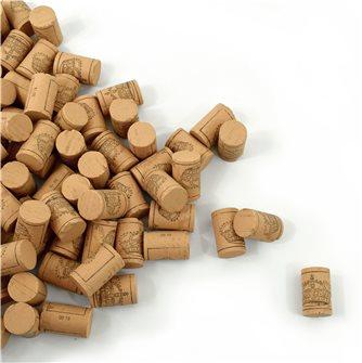 100 bouchons en liège colmaté pour vin jeune et cidre 38x24 mm. catégorie 5